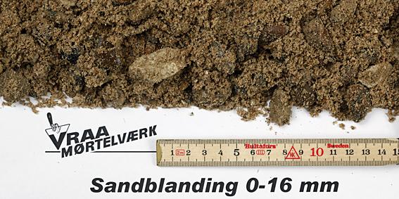 Støbemix 0 - 16 mm