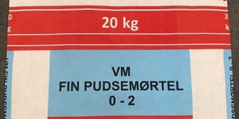 VM fin pudsemørtel 0-2 mm (50/50/700)