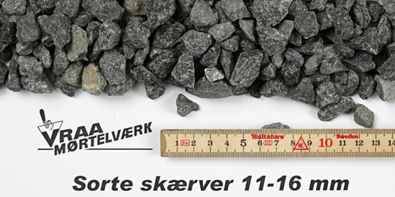 Sorte skærver 11-16 mm
